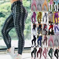 85339dffb5600b Womens High Waist Yoga Pants Hip Push Up Sports Gym Fitness Running Leggings  O96