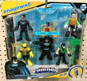 DC Super Friends IMAGINEXT 5 Figure Pack BATMAN NIGHTWING SIGNAL JOKER BANE Read