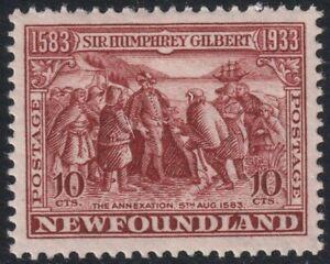 Sc# 220 Canada Newfoundland 1933 10¢ issue MMH CV $8.50