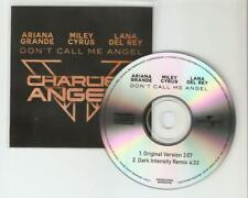 "CHARLIES ANGELS ""ARIANA GRANDE LANA MILEY"" ""DONT CALL ME ANGEL"" 2 TRACK CD PROMO"