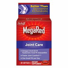 MegaRed Joint Care, 30 softgels -  Omega 3 Krill Oil, Hyaluronic Acid and...