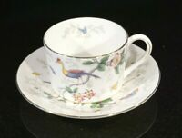 Beautiful Coalport Cairo Peacock Multi Colour Flat Cup And Saucer