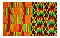 Kente Handwoven Man's Cloth Asante Ghana African Ashanti Textile Fabric 10 yards