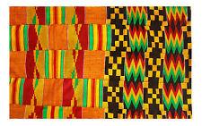 Kente Handwoven Cloth Asante Ghana African Art Ashanti Textile Fabric 6 yards