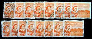MAURITIUS 1954 - 2.50R SG304 Cat £9 SG27a Fine/Used £1.25 Each SEE BELOW NJ527