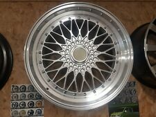 """BBS RS Style 19"""" alloy wheels 5x112, 5x120, 19x9.5, silver polished, deep dish"""