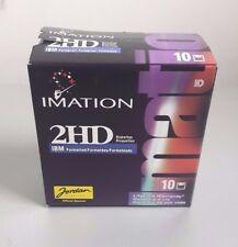 """IMATION 2HD 3,5""""  NEW SCATOLA SIGILLATA SEALED BOX 10 IBM FORMATTED FLOPPY DISK"""