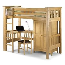 Pine Brown Bunk Beds Bases for Children