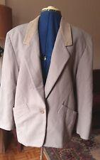 Vintage 80s Italy Byblos gray tan wool & cashmere blend jacket coat blazer 40 6