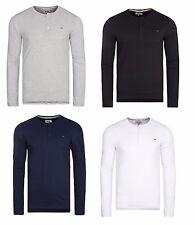 Neu! TOMMY HILFIGER Herren Langarm Buttons Gr. M-XXL T-shirt Longsleeve Basic