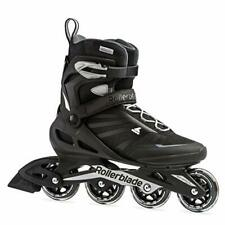 New listing Rollerblade Zetrablade Men's Adult Fitness Inline Skate Black and Silver Perf...