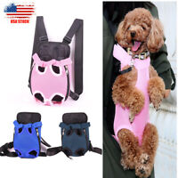 Pet Dog Puppy Legs Out Carrier Front Pack Nylon Mesh Outdoor Adjustable Backpack