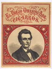 PRESIDENTIAL CAMPAIGN POSTER ART  HONEST ABRAHAM LINCOLN 1860 ELECTION CIGAR AD