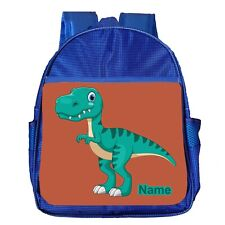 Dinosaur T-Rex Kids Backpack Personalised Toddler Boys Bag