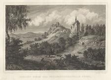 Scheßlitz : Giechburg u. Wallfahrtskirche Gügel. - Stahlstich, um 1850