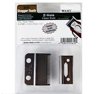 WAHL CORDLESS MAGIC CLIP REPLACEMENT BLADE SET #2161  STAGGER TOOTH CRUNCH BLADE