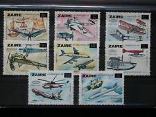 ZAÏRE '1985 ** MNH 1258/1265 COB 12 EUR,TRANSPORTS,AVIATION,SURCHARGES,SABENA