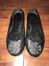 Tory Butch Reva Women's Black Flats Size 6