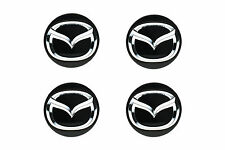2011-2014 Mazda 2 Chrome Wheel Spoke Center Cap Cover Set of 4 OEM NEW