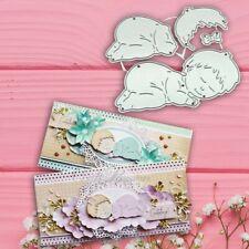 Sleeping Baby Metal Cutting Dies Craft Die Cut Embossing Card Making Stencil