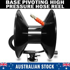 BRAND NEW High Pressure Washer Base Pivoting Black Steel Hose Reel 3/8″ x 30M