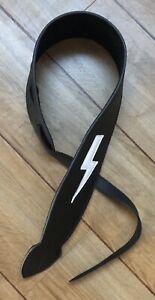 Leather Graft Tribute To AC/DC Guitar Strap Black Ltd Edition