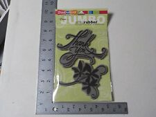 STAMPENDOUS #CRS5003 JUMBO THANK YOU SET CLING RUBBER STAMP NEW A1882