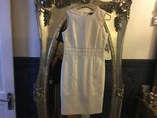 Coast size 12 cream smart shift dress sleeveless lined new