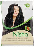 10gm Nisha Henna Hair Dye Color Ammonia Free Natural Black Natural Brown USA