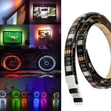 2x 50cm 5v 5050 RGB LED Strip Light Colour Changing USB TV PC Back Mood Lighting