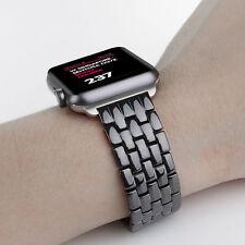 Nero Ceramica Braccialetto Farfalla Orologio Cinturino si adatta Apple Watch SERIE 1 2 3 42 mm