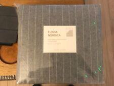 Zara Home striped grey flannel duvet cover 240 x 220 centimetres