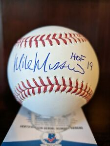 Mike Mussina HOF 2019 Signed Autographed OML Baseball Beckett BAS COA NY Yankees