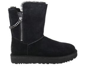 Damen Boots Stiefel UGG Classsic Short Sparkle Schwarz 1094983-BLK