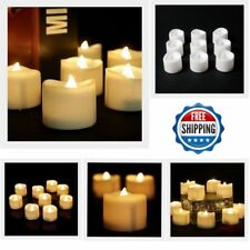 12pcs Warm White Flickering Flameless Candles LED Tea Lights Candles with Timer
