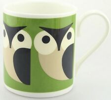 Orla Kiely Bone China Tea/Coffee Mug - Green Apple Owl. Retro. Vintage