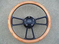 1967 to1968 Chevy Impala, Bel Air  Real Oak & Billet Steering Wheel, Full Kit