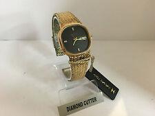 "Hamilton Prelude ""T"" 6 dimonds Gold Plated ref.906017 Y Swiss ESA Watch"