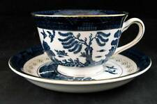 Nikko BLUE WILLOW Footed Cup & Saucer Vintage LIGHT USE