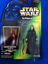 Star Wars 1996 Power of the Force POTF2 Green Card Hologram Emperor MOC