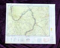SUDAN: 1943 :Original WW2 MAP: LRDG: Desert: Empire: RARE MAP OF SUDAN