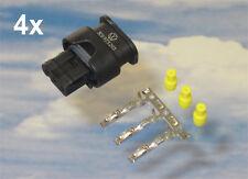 4x Stecker 3C0973203 je. 3x MCON Kontakt 3x Dichtungen für PDC VW Audi Seat BMW