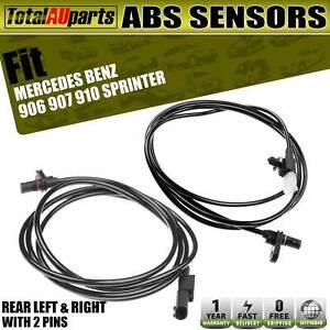 2x Rear LH RH Wheel ABS Speed Sensors for Mercedes Benz 906 910 Sprinter 3,5-t
