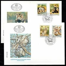 Yugoslavia - 1992 Protected animals - Mi. 2525-28 on clean FDC's