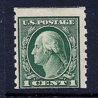 US #412 ~ MNH OG 1912 1c Regular Perf 8.5V SL Wmk Coil Stamp Single....