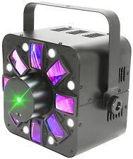 QTX adrone ECO 3-in - 1 LED Luce Effetto Proiettore Strobo Laser DMX DJ Discoteca