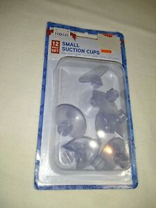 "12 PACK OF SMALL SUCTION CUP for lights wires, cables, hold upto 3 lbs 1 1/2""CUP"