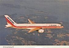air europe airlines  Airplane Postcard