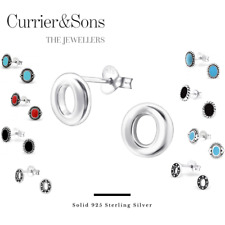 925 Sterling Silver Oval Design Stud Earrings