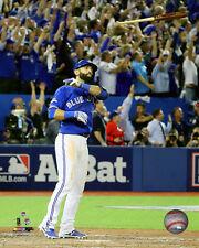 Toronto Blue Jays 8x10 Picture MLB Baseball Jose Bautista ALDS Bat Flip Home Run